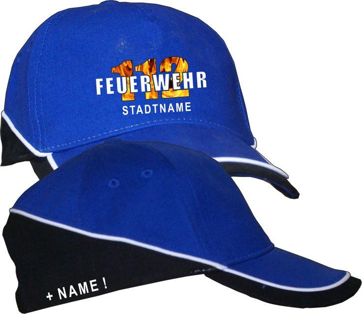 Flamemotiv Feuerwehr Bekleidung Kopfbedeckung Vereisbekleidung Wunschname