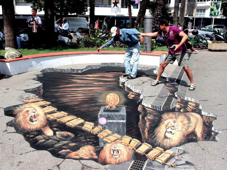 3D Street drawing Illusions You Won't Believe Your Eyes   – 3D Street Art Illusions