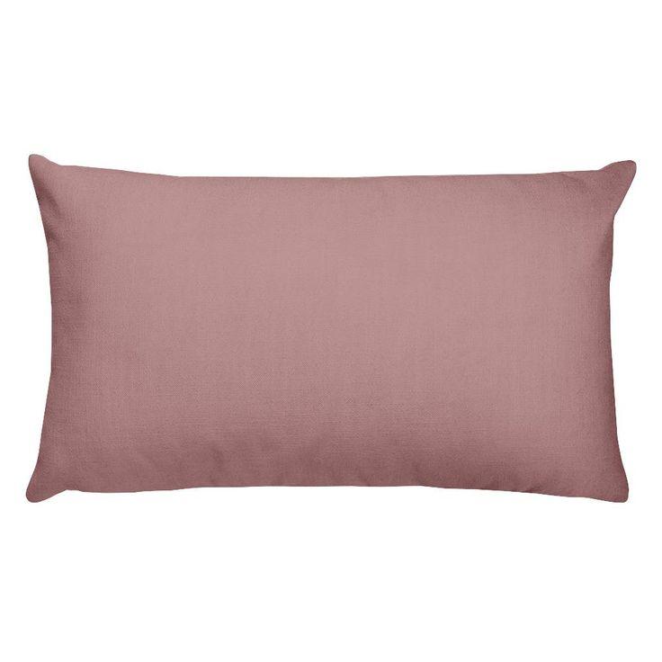 Rosy Brown Rectangular Pillow