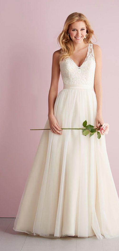 Trending Wonderful Stunning and Gorgeous V neck Wedding Dresses
