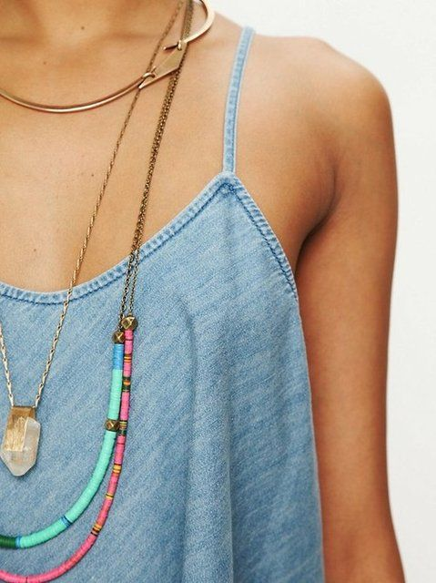 Free People / Layered Necklaces
