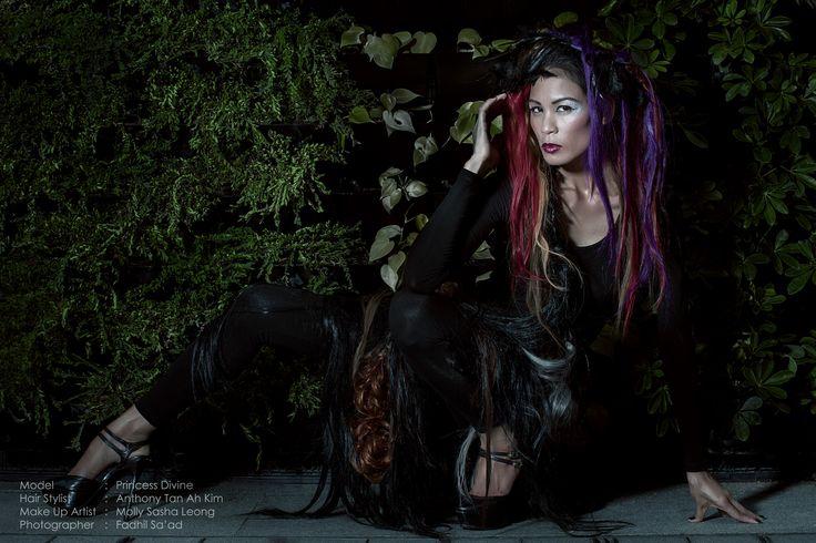 Hairstyle AhKim Anthony Tan MUA Molly Sasha Leong Model Princess Divine Photographer Fadhill Saad