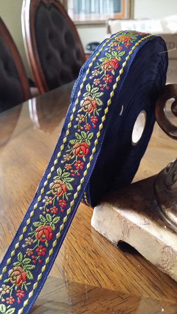 Indian Embroidered Lace Embroidered Trim Decorative Ribbon