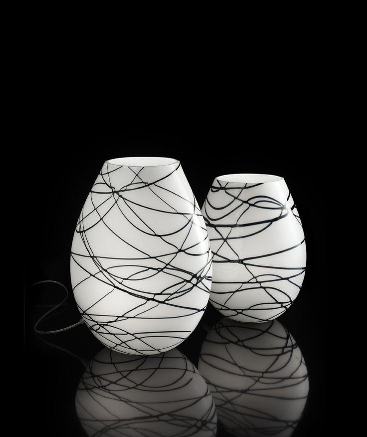 #BlackandWhite web #MuranoGlass #table #lamp