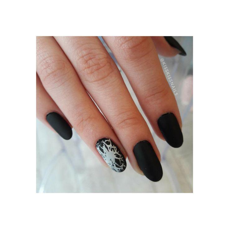 Find comfort in the Chaos   #kisskissnails #stamping #blacknails #mattenails #nailsoftheday #jessica #jessicanailpolish #7free #nailart
