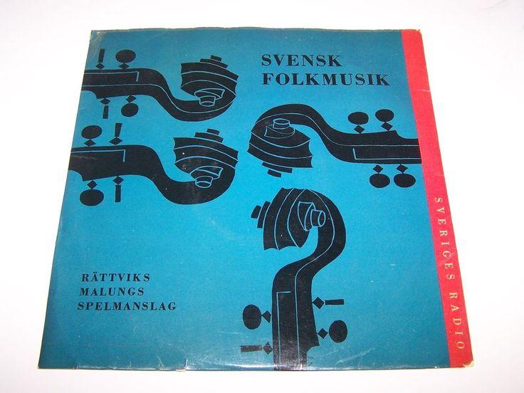 SVENSK FOLKMUSIK SVERIGES RADIO RATTVIKS MALUNGS SPELMANSLAG RECORD