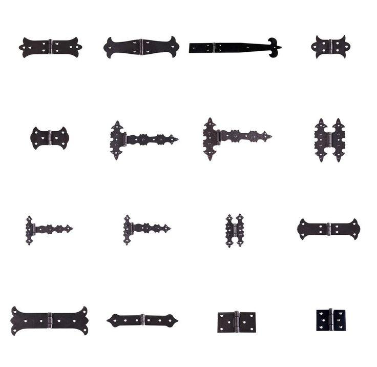 Eisen Scharniere schwarz Torbänder Türbänder Scharnier