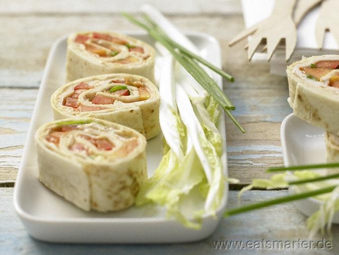 chicken tortilla wrap - Hähnchen im Tortillamantel - smarter - Kalorien: 187 Kcal   Zeit: 45 min.