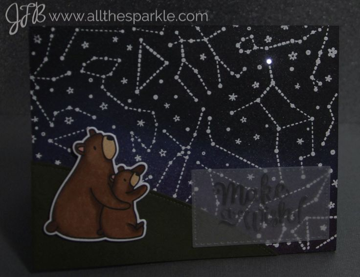 chibitronics Wishing on a star! card | all the sparkle DIY LED could as easily be I love you to the moon and back.....