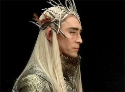 "Thranduil with his awesome crown. So much sass in one gif. <------ As much as I would like to actually meet Thranduil, I'm afraid I might accidentally call him ""Sir Sassy-pants"" to his face."