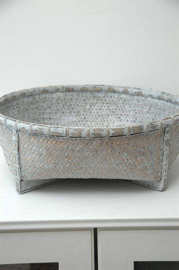 Silvergrå Korg med Fötter