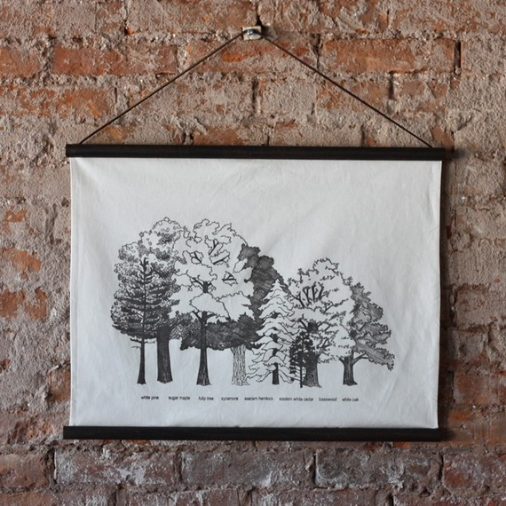 trees of the carolinian forest poster - jennarosehandmade - etsy