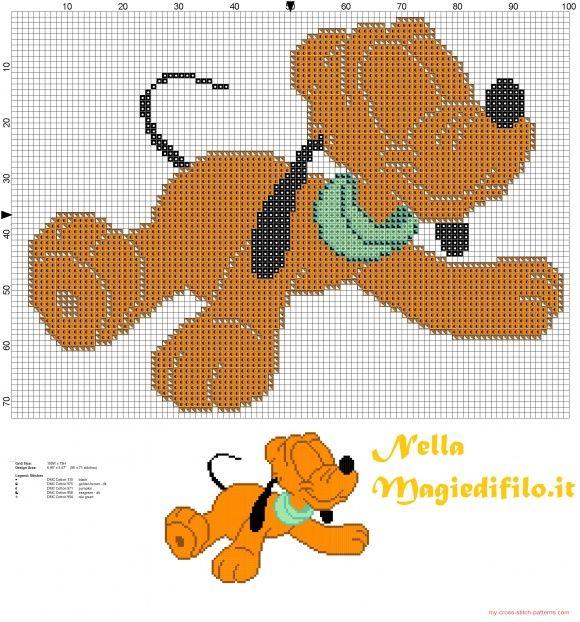 Baby Pluto - schemi punto croce gratis