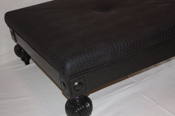 Black Alligator Ottoman Table by 1801FurnitureCo on Etsy | Muebles ...
