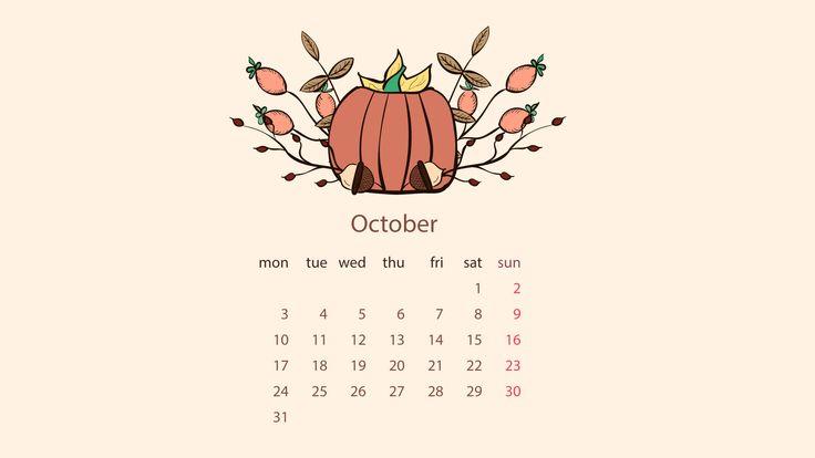 Free October Wallpaper for desktop – DayDreaming Art