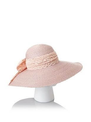 69% OFF Giovannio Women's Milan Swinger Lace Bow Hat, Faded Pink