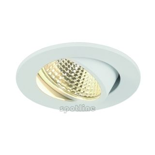 New Tria LED, okrągła, biała - zestaw