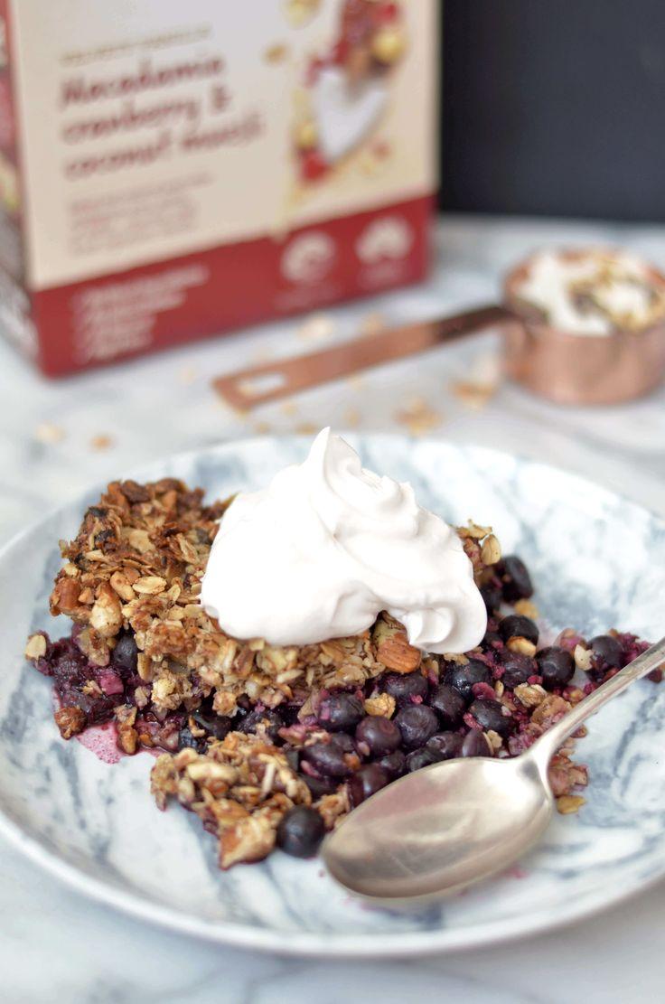 Crunchy Blueberry Cobbler with Coconut Yoghurt