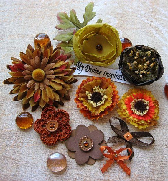 fall embellishments Mydevineinspiration on etsy