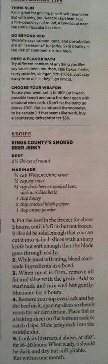 Jerky Recipe