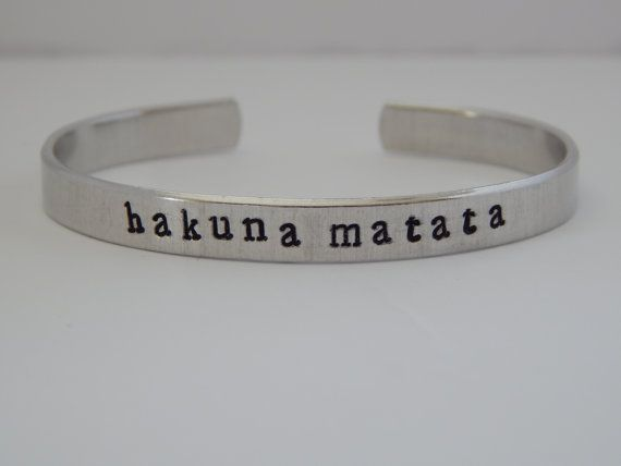 Hakuna Matata Lion King Inspired Cuff by FamilyHouseStampinv