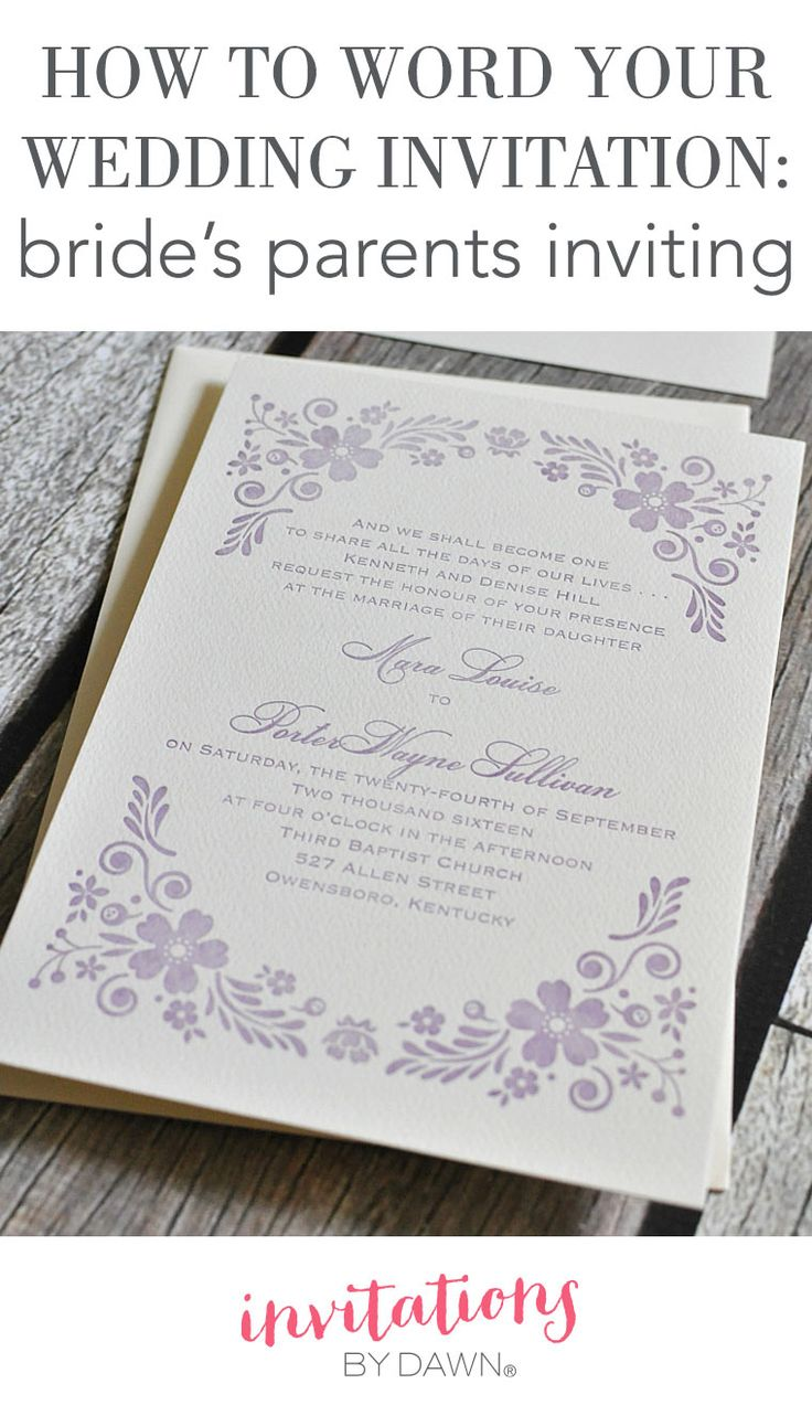 Learn how to word wedding invitations if