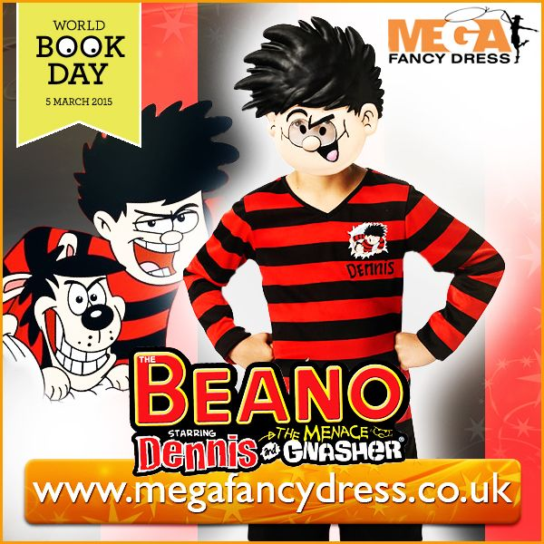 World Book Day is fast approaching and here at Mega Fancy Dress we predict that Dennis the Menace will be very popular this year! So, we're giving away a free Kids Dennis the Menace costume! It's ideal for any little boy looking to dress up as the crafty child from the Beano series! All you have to do is RT our Dennis giveaway post on Twitter & follow us, it's that simple! Twitter page - https://twitter.com/megafancydress Winners will be announced soon! Good luck!