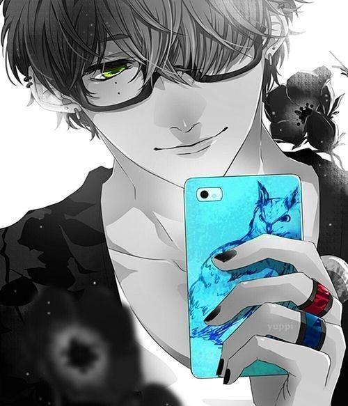 Cel phone hot and cute a n i m e b o y pinterest - Anime girl on phone ...