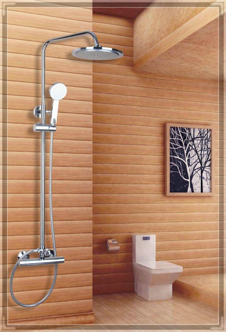 """Torneira Yanksmart 53306 8 """" ABS plástico chuveiro de parede chuveiro monocomando banheiro Chrome torneira Comple alishoppbrasil"""