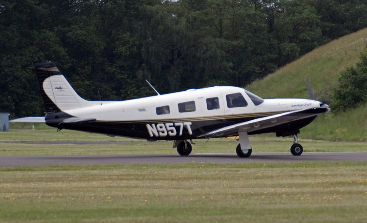 A Piper Saratoga similar to N9253N, the aircraft flown by John F. Kennedy Jr. on the night of the accident