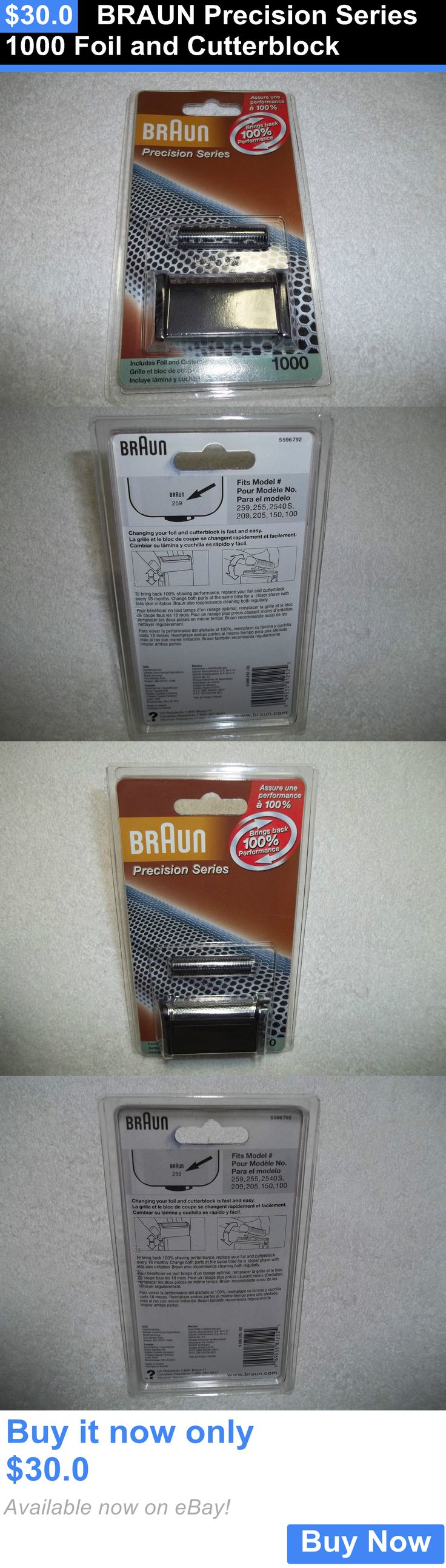 Shaver Parts and Accessories: Braun Precision Series 1000 Foil And Cutterblock BUY IT NOW ONLY: $30.0