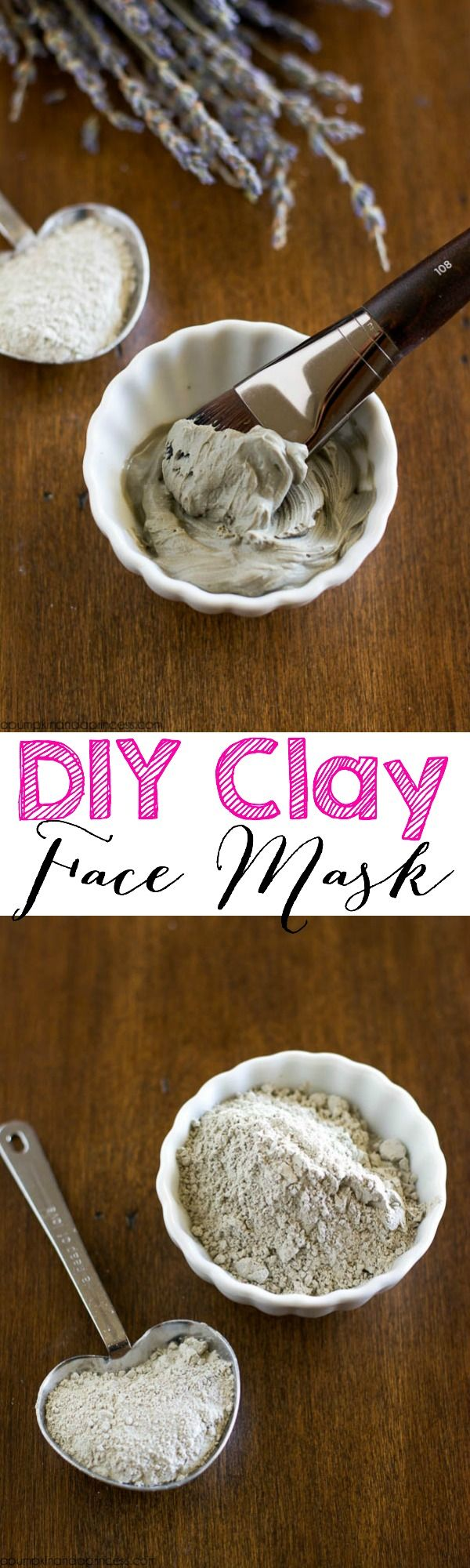 DIY Clay Face Mask - deep cleanse skin with this homemade face mask that only requires 2 ingredients!