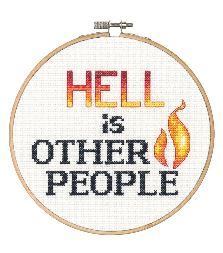 Say It! in cross stitch-Hell