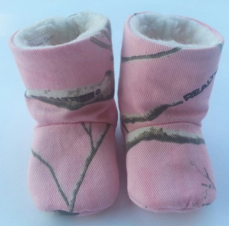Pink Realtree Ap Camo Baby Girl Boots By Dumaisdesigns On