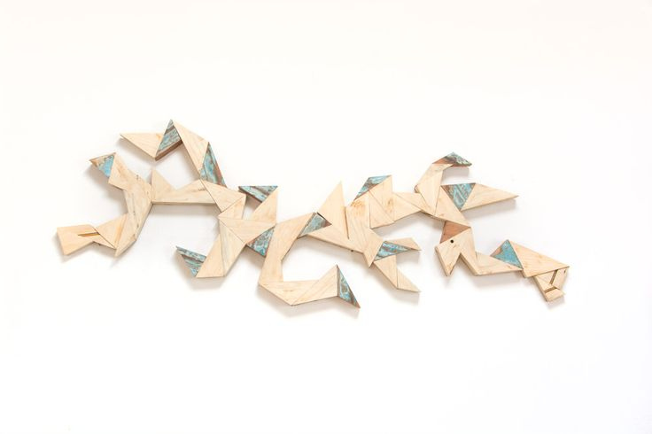 MARTIN VIECENS | Sculptural object |  Recycled wood | Assemblies | 50x150cm