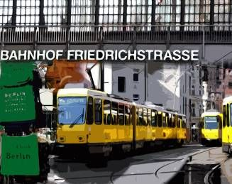 Friedrichstraße. Berlin. Fotocollage.