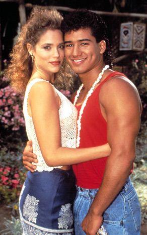 '90s TV Stars: Then & Now: Elizabeth Berkley and Mario Lopez: Then (Us weekly)