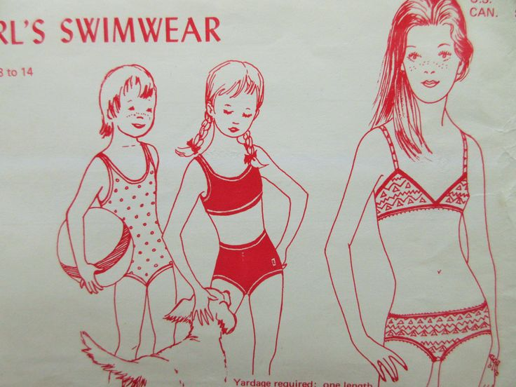 Vintage Knit and Stretch 404, Girl Swimsuit, Girls Bathing Suit Swimsuit Pattern, 1970s Sewing Pattern 70s Swim Suit Pattern, Bikini Pattern by sewbettyanddot on Etsy