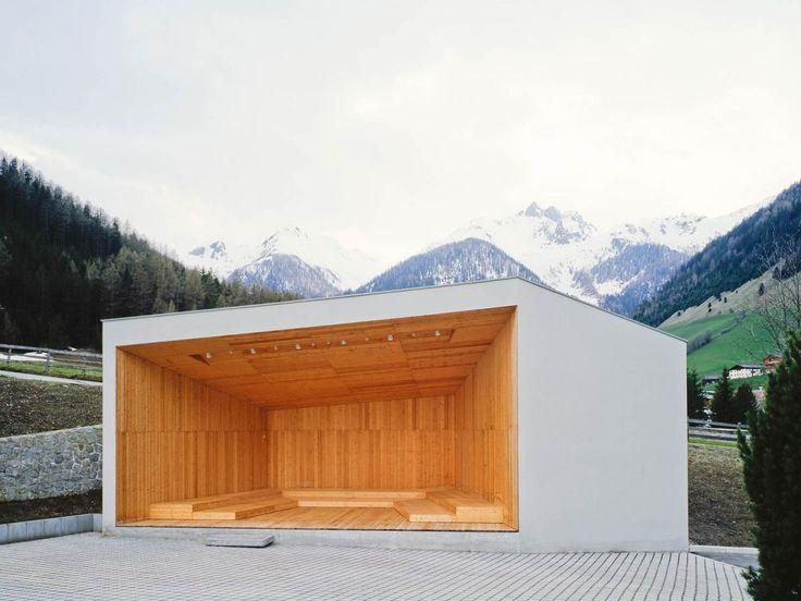Open Air Stage, Ahrntal, Südtirol  Architects: Stifter + Bachmann  Musikpavillon in Weißenbach