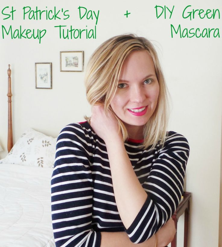 DIY Green Mascara for St. Patrick's Day... What more can I say? Love