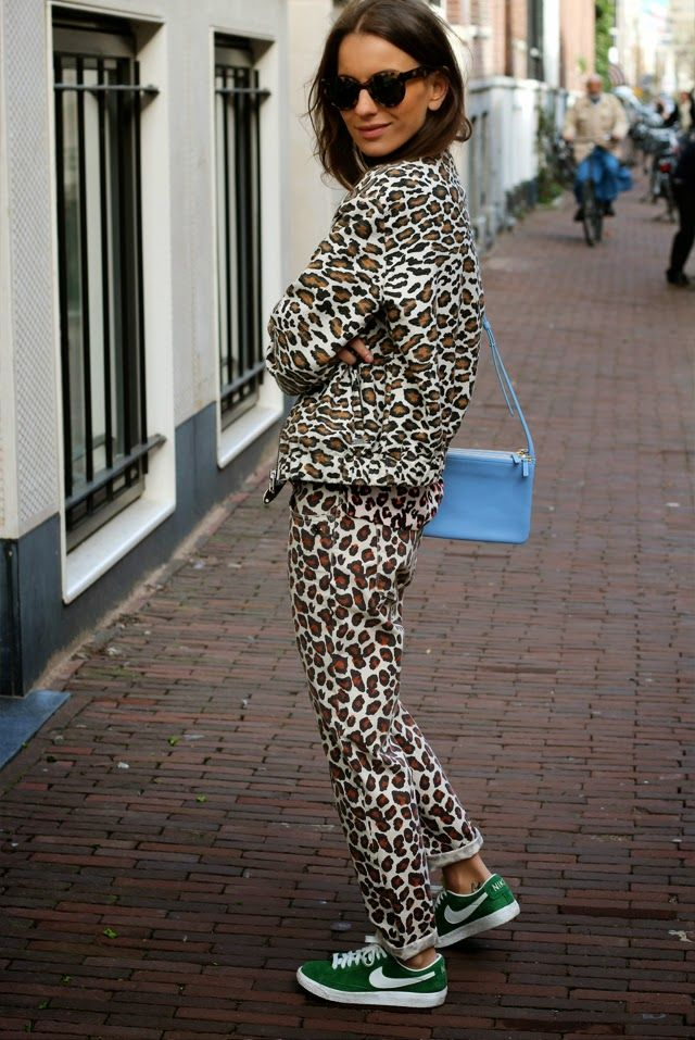 Who would have thought an all cheetah outfit would look so good!