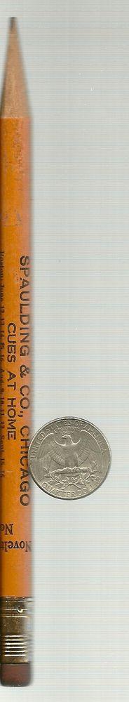 Vintage 1925 Chicago Cubs Home schedule on SPAULDING & Co promo PENCIL !