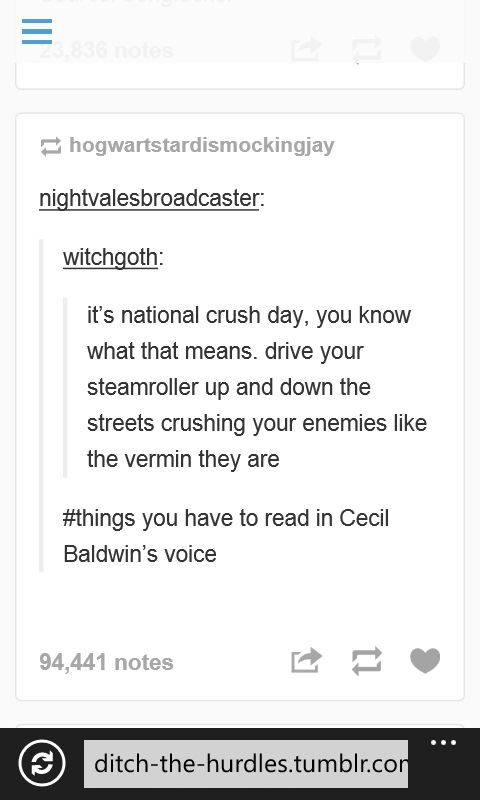 #thingsyouhavetoreadincecilbaldwinsvoice I love it. Welcome To Night Vale