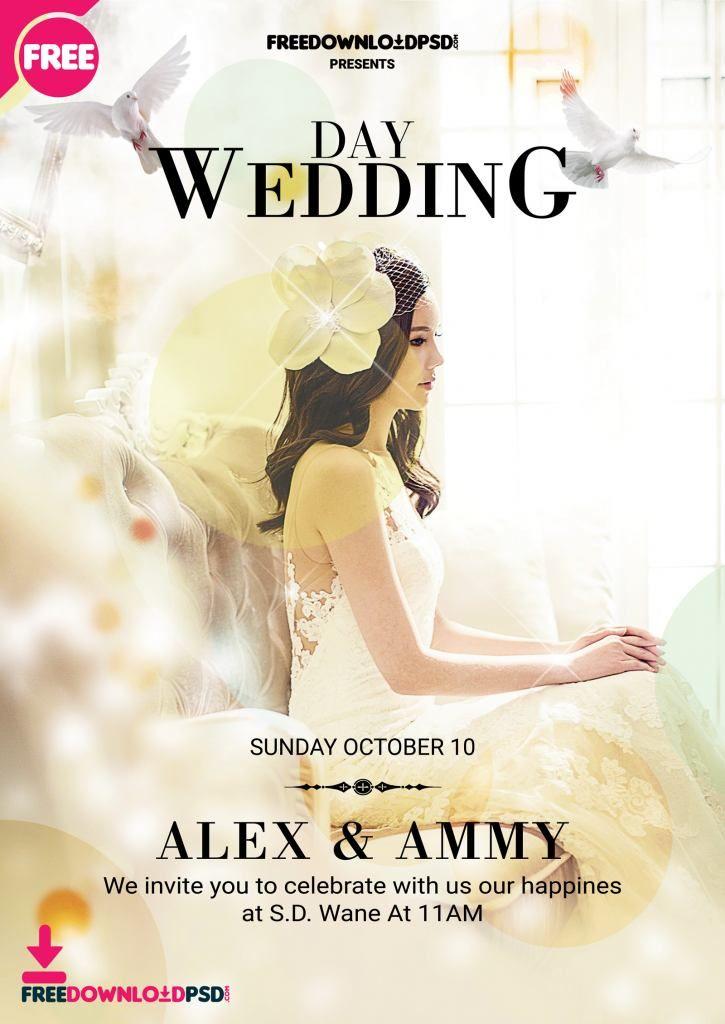 Wedding Flyer Template Psd Wedding Invitation Maker Free