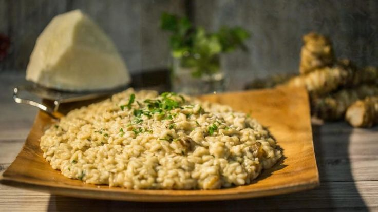 Risotto with Jerusalem artichokes #NonnaBox #Blog recipe up on the blog!