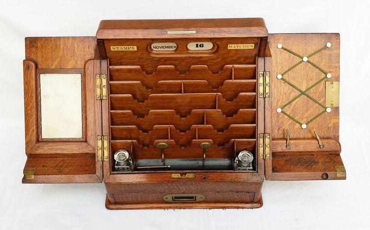 Parkins & Gotto Oak Stationary/writing box