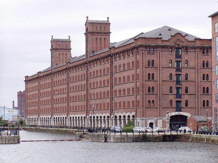 Exterior of Waterloo Warehouse conversion, Liverpool Docklands.