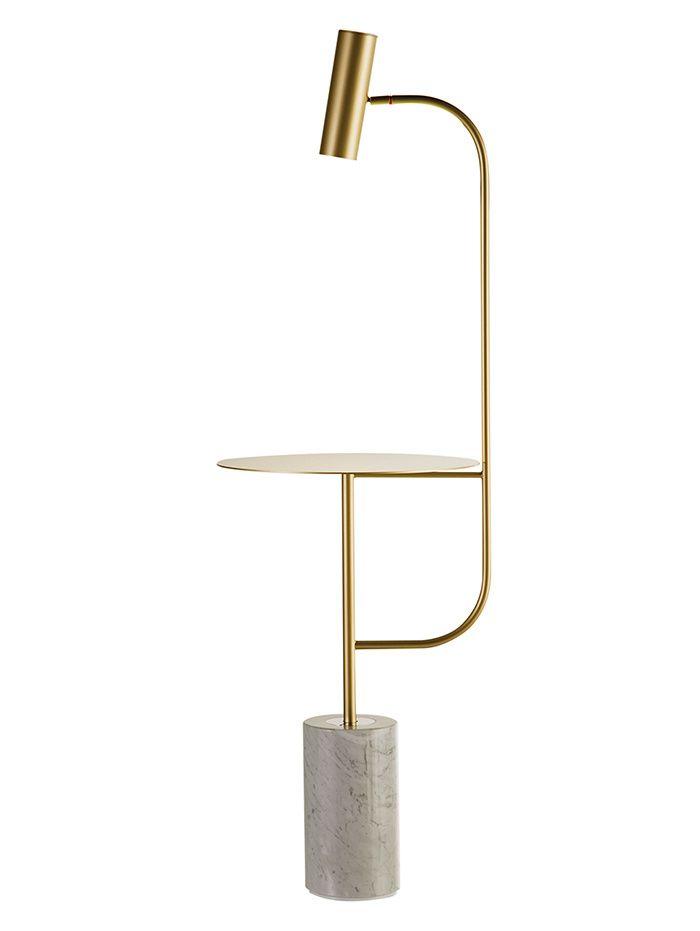 Le mobilier double emploi Guéridon/lampadaire Pasteur, Cédric Ragot (Roche-Bois)                                                                                                                                                      Plus