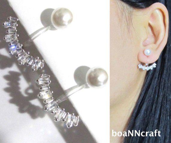 Crystal Bridal Clip On Earrings Wedding Dangle