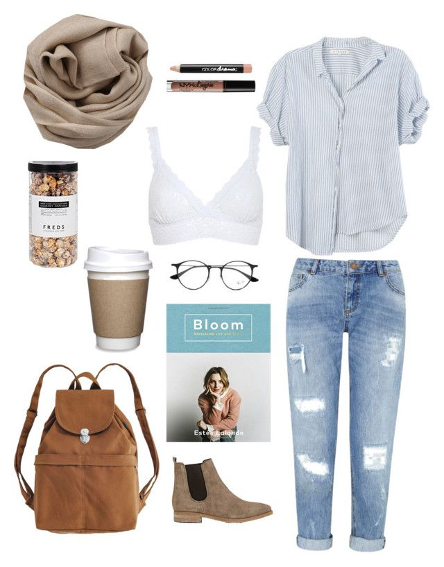 #coffeetime by bobo-kerekes on Polyvore featuring polyvore, fashion, style, Xirena, Hanky Panky, Miss Selfridge, Barneys New York, BAGGU, Brunello Cucinelli, Ray-Ban, NYX, Bookspeed, FREDS at Barneys New York, Maybelline and clothing